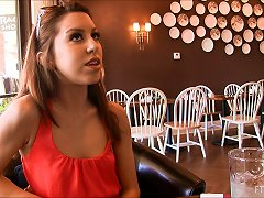 Titties Pop Out At The Restaurant As She Enjoys Lunch