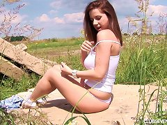 Big Tits Cowgirl Takes Her Toy Outdoors For A Wild Solo Shoot