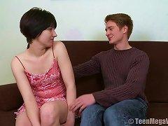 Short-haired Russian Teen Enjoys Having Her Cunny Stuffed Hard