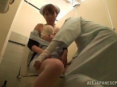 Japanese Nurse Seduces A Patient And Fucks Him In The Toilet