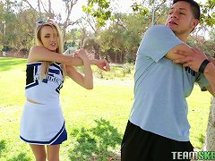 A Desperate Cheerleader Fucks Her Coach To Get On The Squad