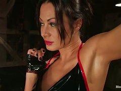 Busty Sandra Romain Strapon Fucks A Guy In Femdom And Bondage Video