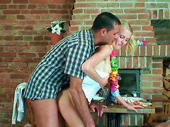 Romantic Date Near The Fireplace  Ending Up Wit Rough Fuck
