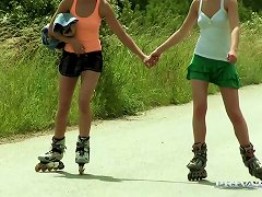 Lascivious Lesbian Alexis Crystal Fucks Her Gf After Roller Skating