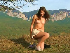 Tanya - A Latvian Girl In The Mountains