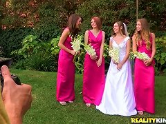 Beautiful Bride Plays Lesbian Games With Her Charming Bridesmaids