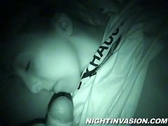 Babe Babe Sucking Cock While Half Asleep And Gets Pussy Fingered
