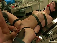 Filthy Nurse Gets Handcuffed And Fucked In The Lab