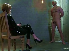 Bold Hunky Slave Waits Orders From A Sexy Dominatrix!