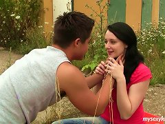 Darkhead Girl Simone Gets Her Pussy Licked And Finger Fucked In The Wild Nature