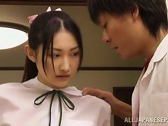 Japanese Good Girl Turns Out To Have A Kinky Fetish... Suck Cock Blindfolded!