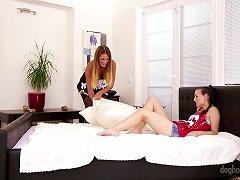 Rich Teen Girl Gets Seduced By The Sexy Lesbian Milf Maid