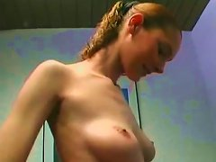 Slim Tall Blonde Whore Prepare To Her Photosession
