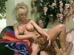 Young Nina Hartley Making Love In Retro Lesbian Sex Clip