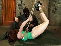 Babe Gets Hanged In Hogtied Pose For Some Pleasures