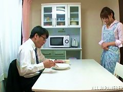 Filthy Japanee Housewife Gives Her Husband A Nice Head