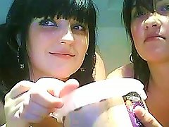 Two Brunettes Are Posing Naked On The Webcam