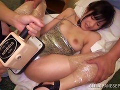 Bondage Fetish Japanese Babe Getting Her Pussy Drilled With Sex Toys
