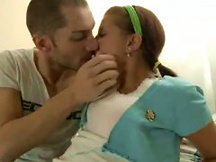 French Babe Angelique Loves Huge Cocks. Tasty Video