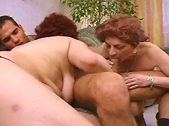 Young Muscular Man Fucking Flabby Mature Gals
