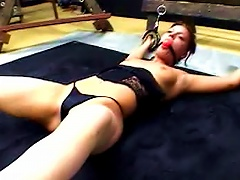 Bound And Gagged Teen In Dungeon
