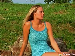 Dress And Boots Babe Has A Hardcore Outdoor Tryst With Him