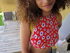 Ebony Teen Banged In Quiet Public Corner