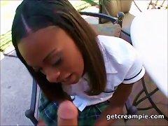 Delicious Ebony Teen Creampied