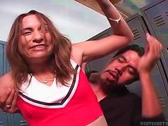 Hot  Cheerleader Getting Her  Eaten In Locker Room