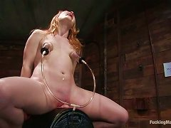 Redhead Madison Young Fucked By Machines In Wild Bdsm Video