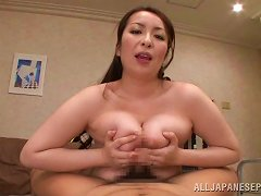 Voluptuous Asian Babe In A Sexy Bra Giving A Steamy Blowjob Then A Superb Titjob In Pov