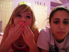 Two Amateur Cuties Talking About Anal Sex On Webcam