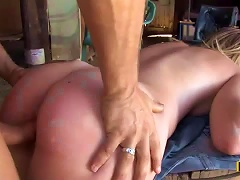 Lustful  Beauty Gets Drilled Outside