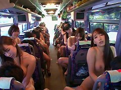 Japanese Senoritas Taking A Nude Ride In The Bus Of Passion