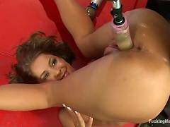 Slender Teen Loves Having Sex With A Big Fucking Machine