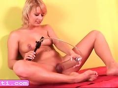 Blonde Euro Teen Iris Pump