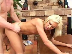 Dick Loving Teen Kacey Jordan Almost Chokes On A Fat Cock