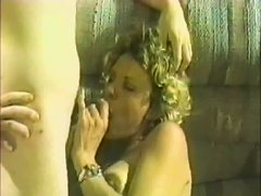 Blonde Milf Gives A Superb Blowjob And Gets Banged Cowgirl Style In A Retro Action