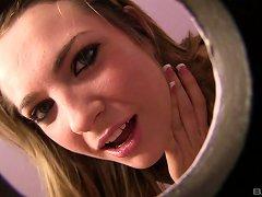 Nasty Babe Giving A Handjob In The Toilet Till She Gets A Facial