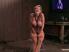 Device Bondage For Hot Busty Blonde Felony In Bdsm Video