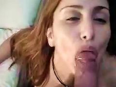 Amateur  Teen Swallows Tasty Sperm