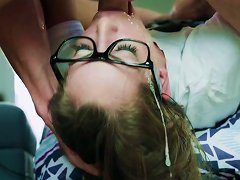 Petite Kimmy Granger Jizzed On Face After A Severe Fuck