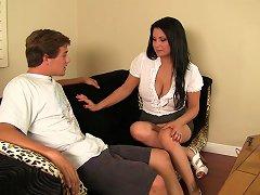Busty Milf Sophia Lomeli Loves Young Dick