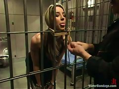 Tied Up Delilah Strong Gets Toyed And Tortured In Prison