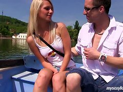 After A Boat Ride This Blonde Ends Up Getting Fucked Nice And Hard