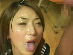 Alluring Japanese Cum-swallowing Cumpilation Video