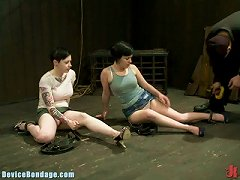 Two Sisters Are Tied Up & Destroyed