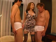 Threesome Video With Horny Claire Hasumi Getting Pounded