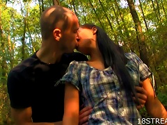 Hot  Teen Slut Rosa And Victor  And Outdoor Sex
