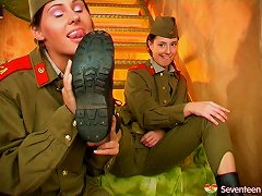 Female Army Officers Have A Steamy & Hot Lesbian Affair